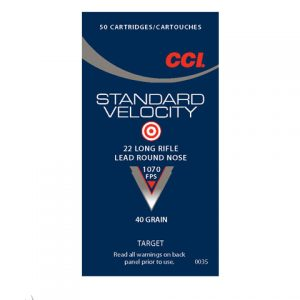 CCI .22LR lead round nose ammunition