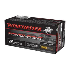Winchester .22LR Power-Point ammunition