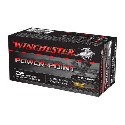 Winchester .22LR Power-Point ammunition