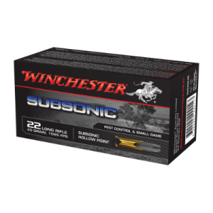 Winchester Subsonic .22LR ammunition