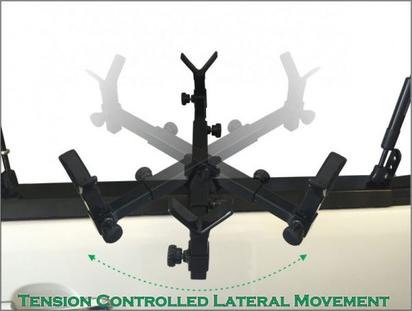 Racken Swivel5 showing tension controlled lateral movement