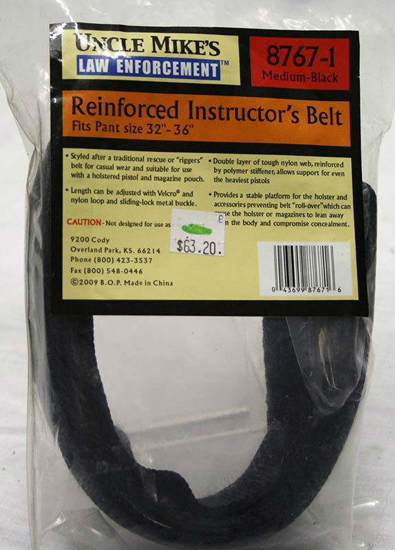 Uncle Mike's Law Enforcement Reinforced Instructor's Belt
