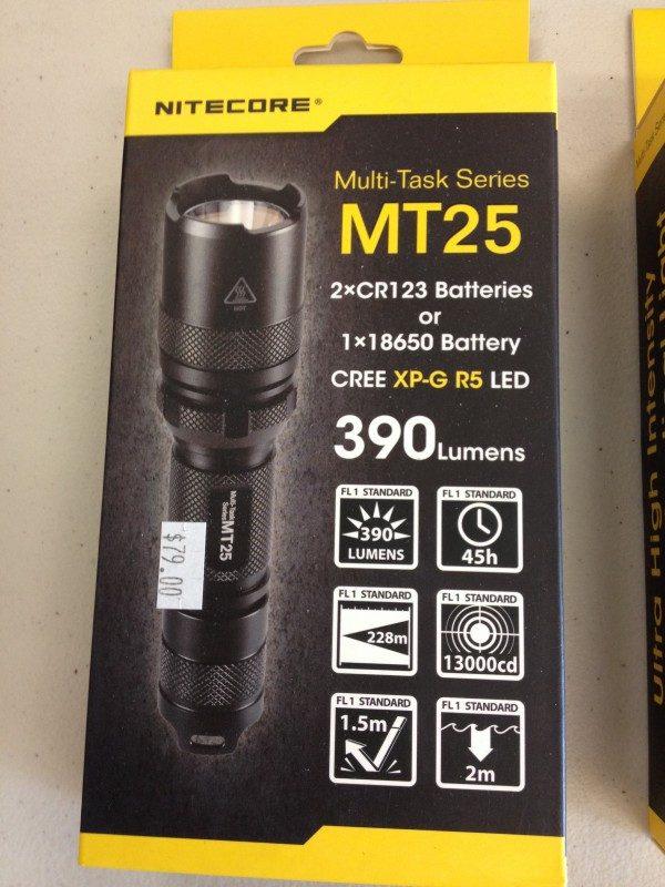 NITECORE MT25 LED TORCH